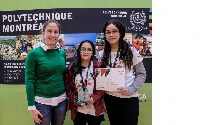 Des étudiants de l'école secondaire Haute-Ville se démarquent au Concours Déplace de l'air de Polytechnique Montréal