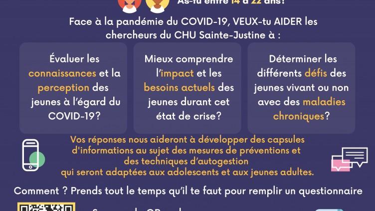 PROJET DE RECHERCHE CHEZ LE JEUNES – COVID-19